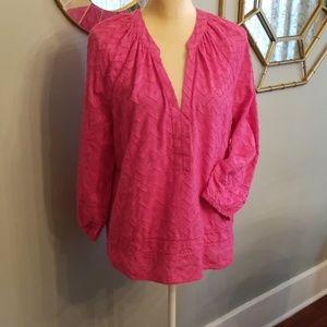 Trina TurK Inc Chevron Bohemian Pink Blouse Sz. L